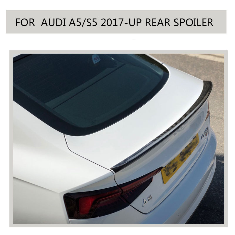 Carbon Spoiler 2018 For <font><b>Audi</b></font> <font><b>a5</b></font> s5 Quatto <font><b>Sportback</b></font> 4-Door 2019 <font><b>2017</b></font> 2018 Boot Duck Lip Wing not fit for 2 door image