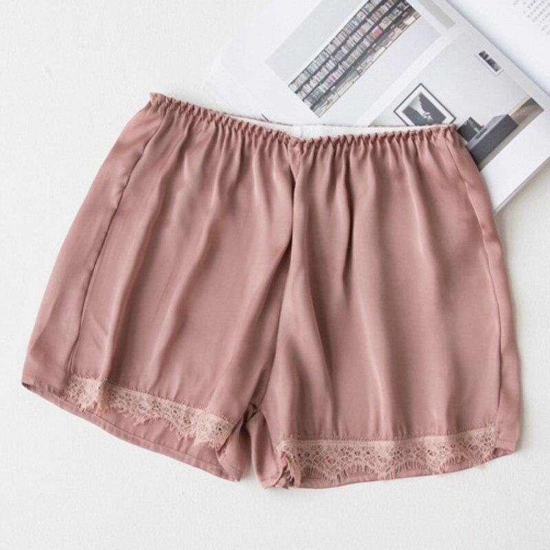 2018 Plus Size Satin Kitten Silky Elastic Waist Women Men Home Sleep Tracksuit Bottom Short Pants Pajama Nightwear Shorts 3