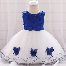 Appliques Baby Dress Princess Robe Bebe Fille Toddler Kids Baby Birthday Baptism Gown Party Infant Dress Baby Girl Clothes