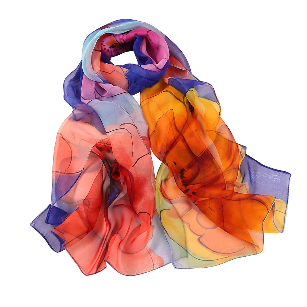 Fashion Women   Scarf   Spring Summer Soft Print   Scarves   Shawls   Wraps   Lady Pashmina Beach Stoles Hijab Foulard J10 JUL20