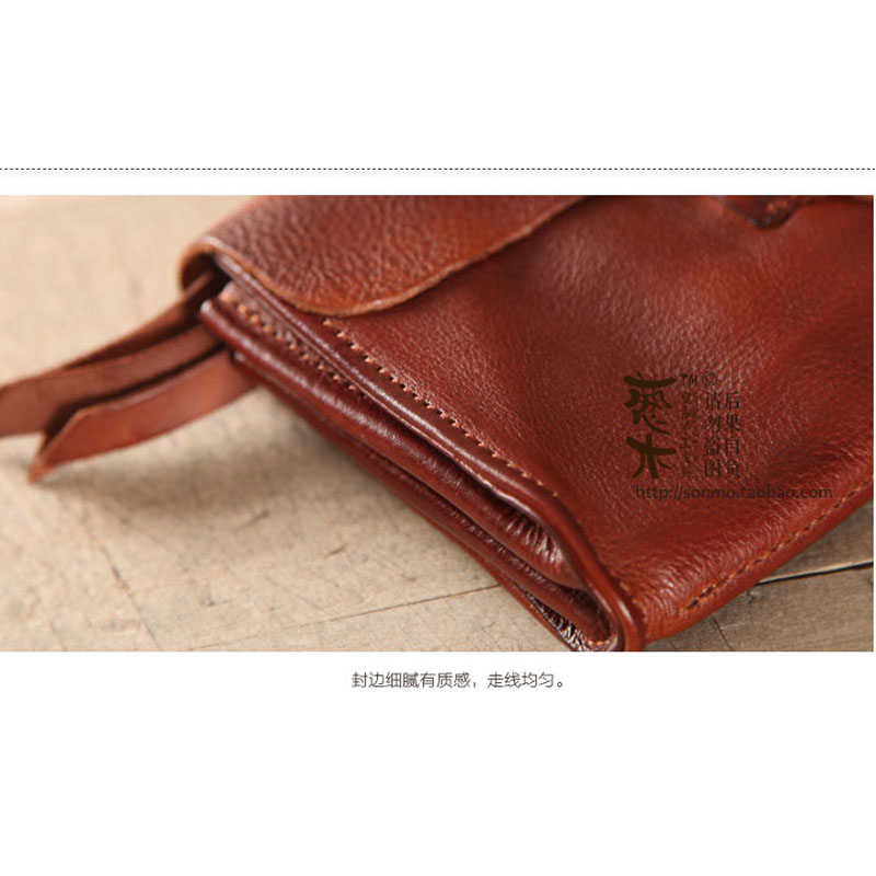 Image 5 - AETOO New handmade soft leather buckle trend male youth student  female cross section long paragraph neutral Vintage walletvintage  walletwallet walletwallet long