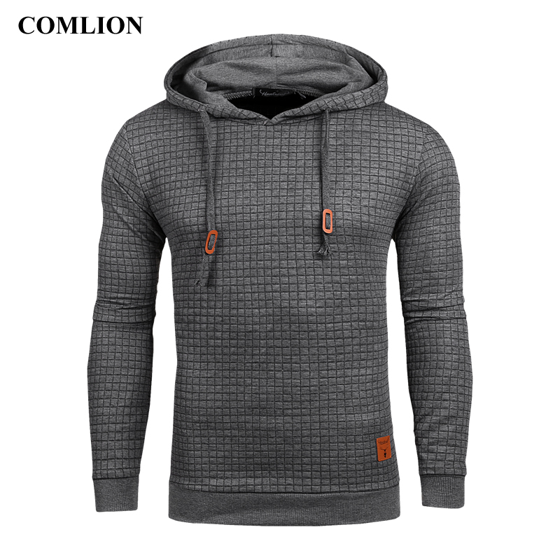 Men Casual Hoodies Mens Sweatshirts Long Sleeve 2018 Autumn Winter New Solid Color Hooded Sweatshirt Male US Size Plus Size C43