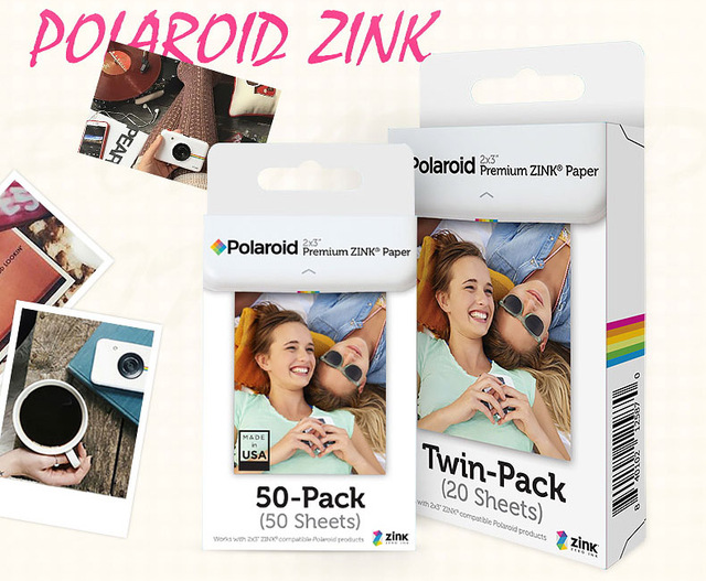 2x3 Inch Premium Zink Film Photo Paper Twin Pack 20 Sheets For
