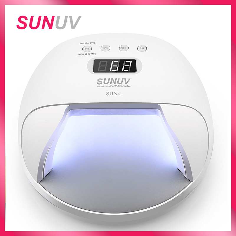 SUNUV SUN7 Nail Lamp 48W Nail Dryer for Gel Varnish with 30pcs LEDs Battery Choice Fast