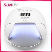SUNUV SUN7 ногтей Лампа 48 Вт ногтей сушилка для гель Лаки с 30 шт. светодиоды Батарея выбор Fast Dry Nail сушильные машины