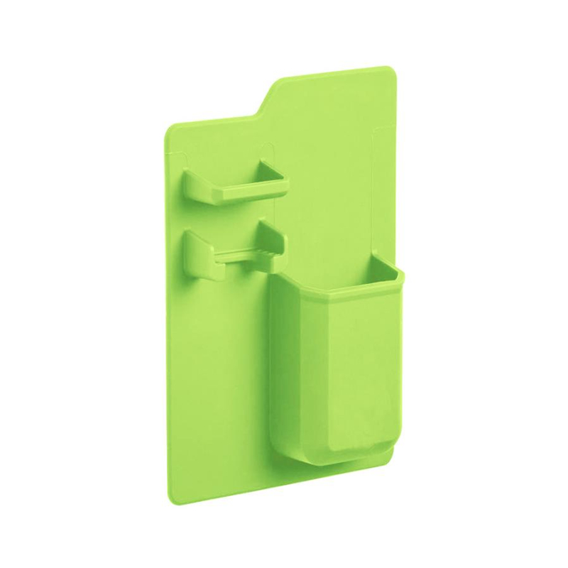 New Creative  Silicone Mighty Toothbrush Holder Baskets Bathroom Organizer Storage Space Rack Wear-resistant Holder C0321#30    03 -