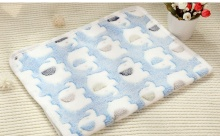 50*70cm Pet Dog Cat Blanket Soft Towel Print Mat For Large Puppy Bed Quilt Bath Car Cushion