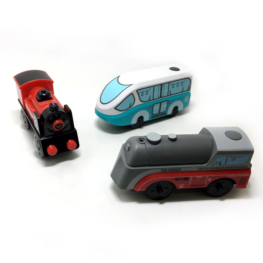 W131 Crianças Trem Elétrico Brinquedos Slot Magnética Eletrônica Diecast Toy Presentes de Aniversário Para Crianças FIT Brio pista pista de madeira