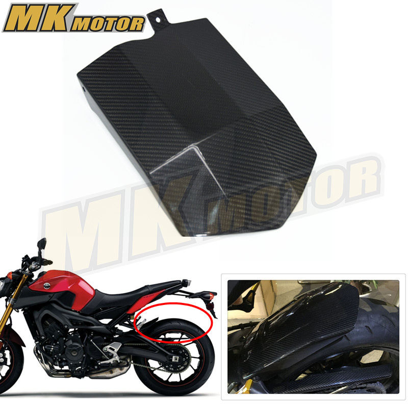 BYSPRINT Motorcycle Accessories For Yamaha MT09 MT 09 MT-09 Mud Guard Applies Rear Fender Cover Mudguards Real Carbon Fiber rear fender fairing set rear protecter mud dust guard fender chain guard for yamaha yzf r25 r3 2013 2014 2015 2016 rear mud