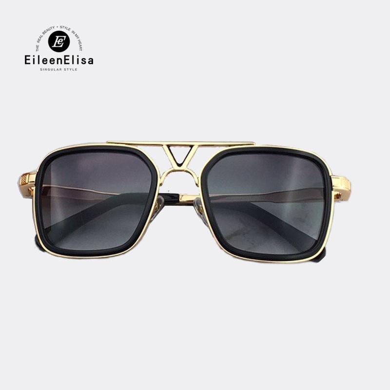 Square Men Sunglasses 2018 Vintage Metal Frame Sun Glasses Polarized UV400 High Quality Brand Design Eyewear Sunglasses retro women men metal frame sunglasses glasses vintage round outdoor eyewear