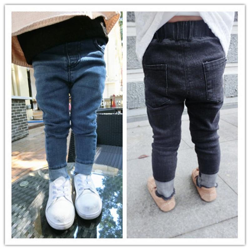 2017New Girls Leggings Toddler Baby Boy Girls Denim Pants Girl Leggings Children Trousers Solid Colour Fashion