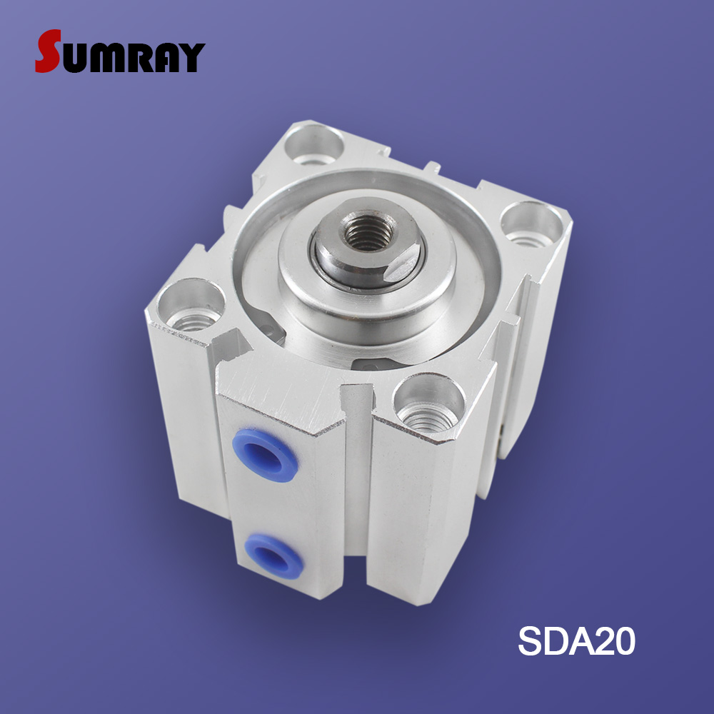 SDA32 32mm Bore 5-100mm Stroke Stainless steel Pneumatic Air Cylinder