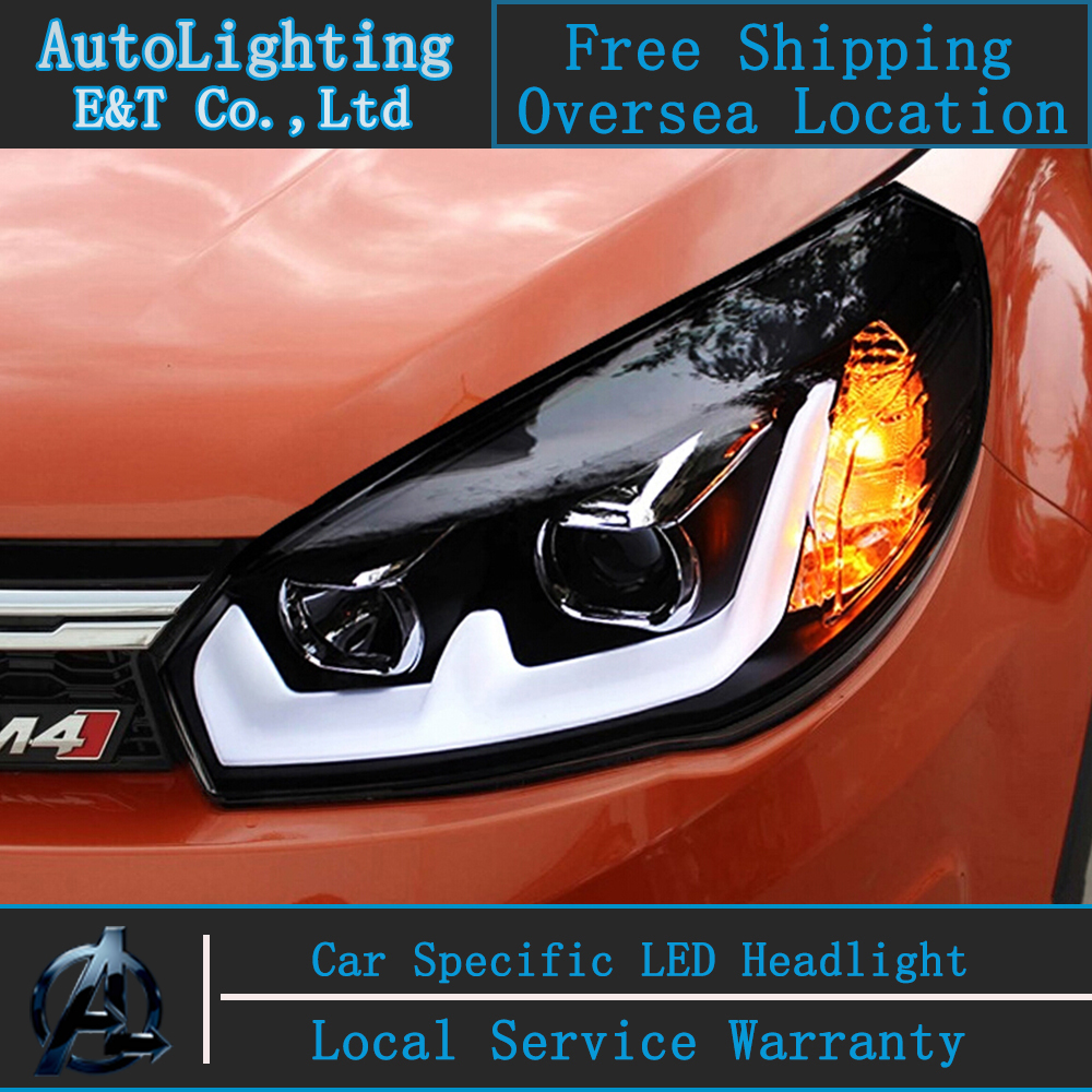 Стайлинга автомобилей для Грейт Волл М4 фары Ассамблеи 2011-2013 и haval М4 светодиодные фары ХОВЕР ДРЛ лампу DRL H7 с HID комплект 2 шт.