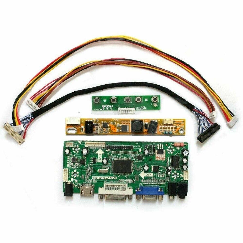 Latumab New HDMI+VGA+DVI LCD Controller Board Adapter Diy Kit For N184H4-L04 1920X1080 Panel  Free Shipping