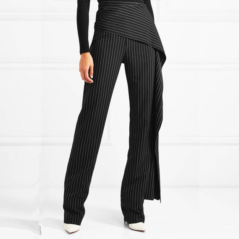 Sets Double Two pants pants Ruches Angleterre Mode Pantalon Marque Length Pieces De Deux Ensembles Wq425 top Style Couture Breasted Pièces Blazer Longer Normal Length wqnfnAza