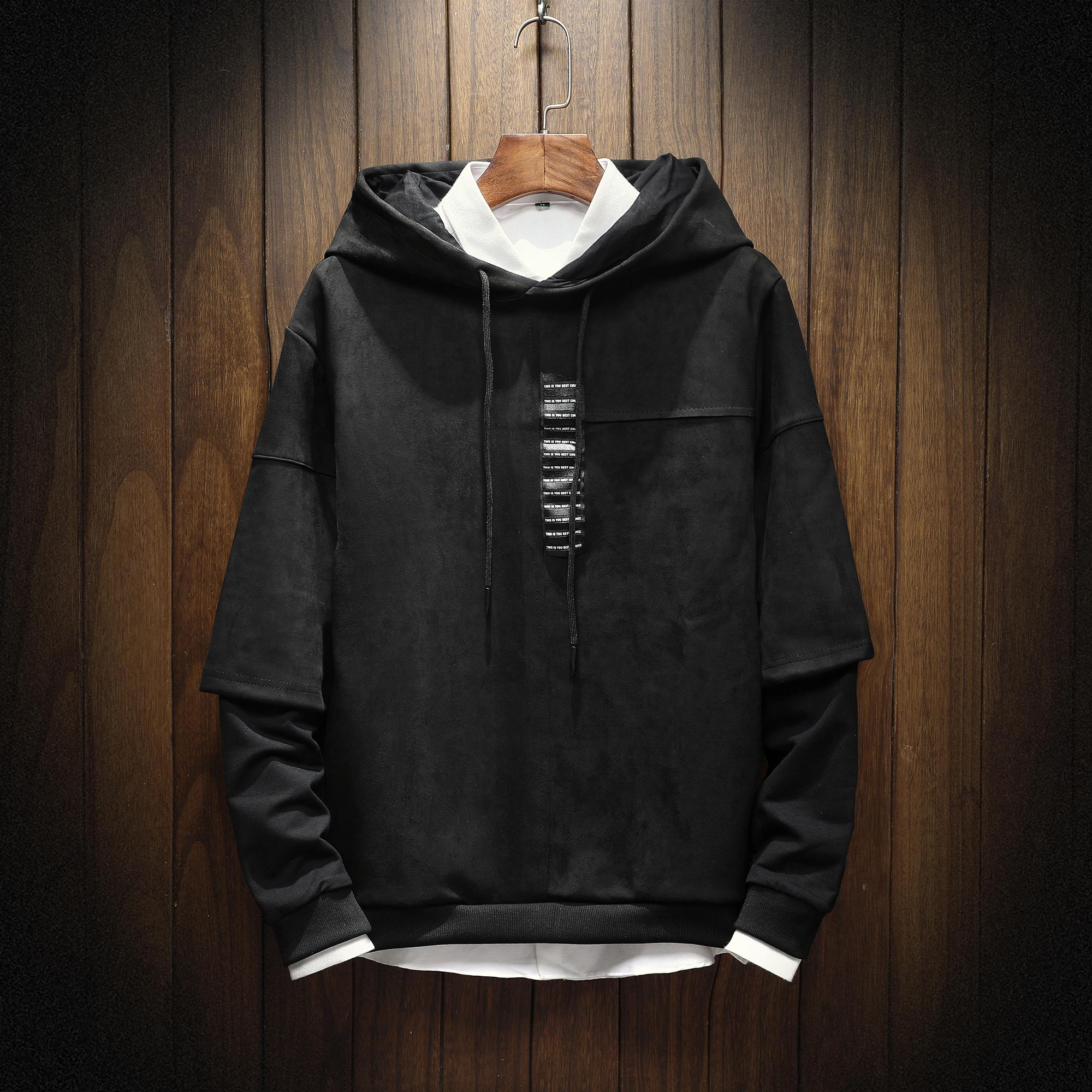 2018 New Mens Hoodies and Sweatshirts Hooded Sweatshirts Male Clothing Fashion For Men High quality trend Spell sleeve Hoodies