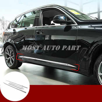 Stainless Steel Car Door Body Side Molding Trim Cover 4pcs For BMW X5 G05 2019