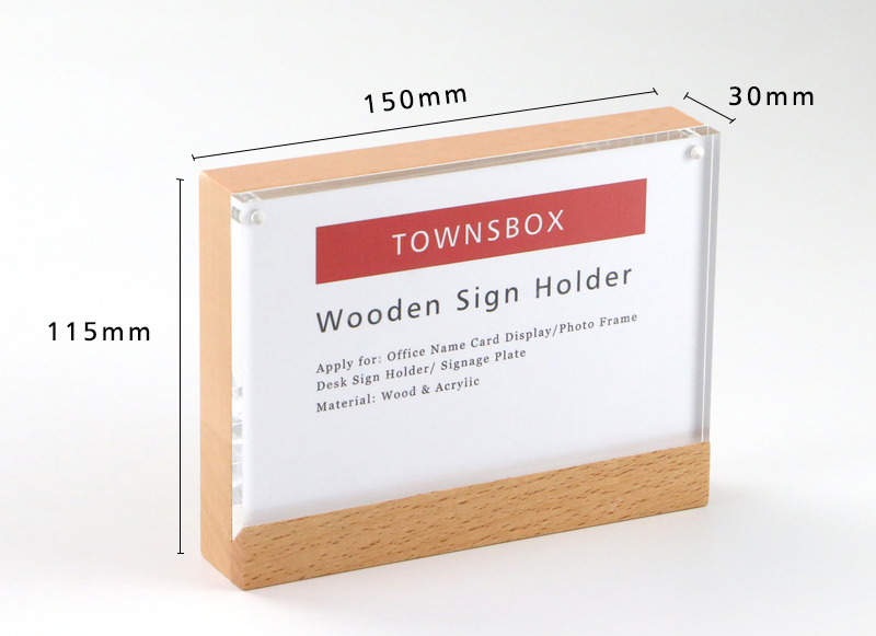 Office & School Supplies Fashion Style 2 Units Prexiglass Magnet Acrylic Frame Desk Sign Menu Price Tag Display Label Holders Advertising Poster Photo Picture Frame Pure White And Translucent