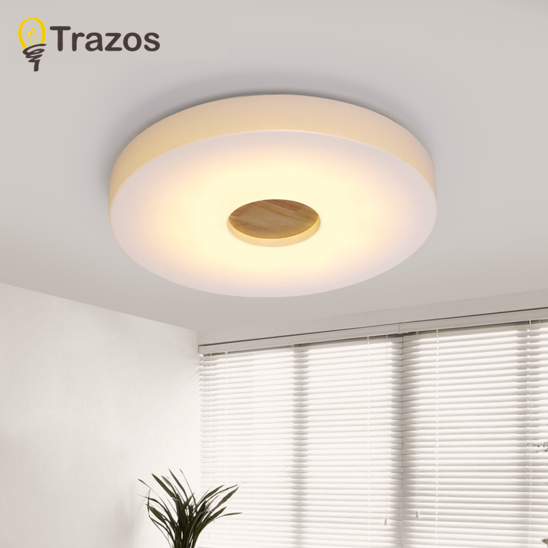 TRAZOS Simple Wooden Ceiling Lights Japan Style Bedroom Living Room Cafe Home Lighting Ceiling Lighting 7.5cm Wood Ceiling Lamp willlustr wooden light japan style led wood ceiling lamp hotel home dinning room bedroom restaurant acrylic panel ceiling light