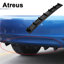 Atreus Car Bumper Exhaust Pipe Chassis Shark 7 Wings Spoiler For VW polo passat b5 b6 Mazda 3 6 cx-5 Toyota corolla Ford focus 2