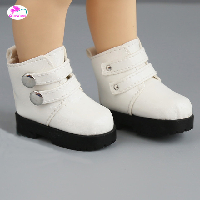 Doll Accessories Assorted Colors 7.2cm High-top shoes For 1/4 BJD Doll &16 Inch Sharon doll Boots& Mini Handmade doll