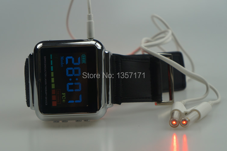 factory offer diode laser wrist watch infrared medical device to control high blood pressure, rhinitis, blood cleaning laser light device reduce blood pressure wrist watch wrist type laser