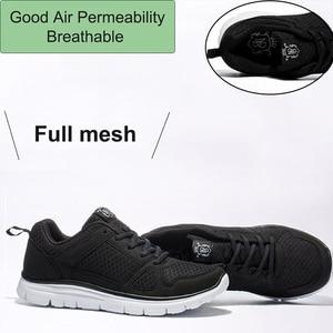 Image 5 - 2020ใหม่ชายรองเท้าSuper Light Breathableตาข่ายรองเท้าผ้าใบManเดินสบายรองเท้าLace Upรองเท้าสีดำชาย40 50