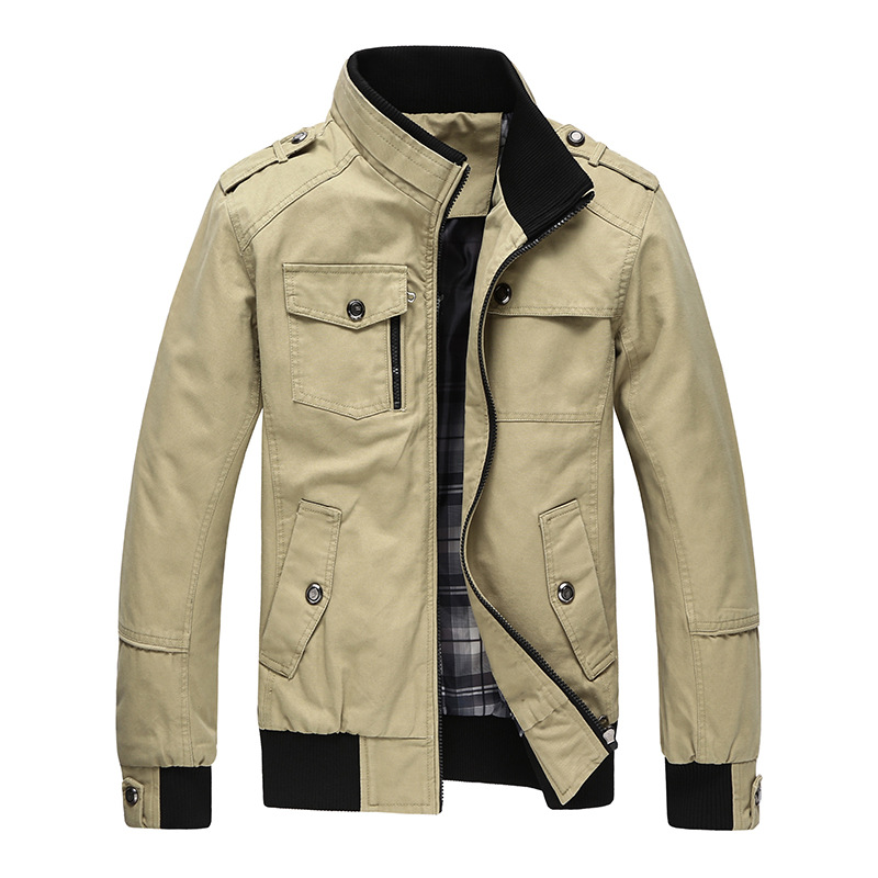 08a7ab38a0476 2017 Autumn Spring Jacket Men Casual Coats Middle Aged Comfortable ...