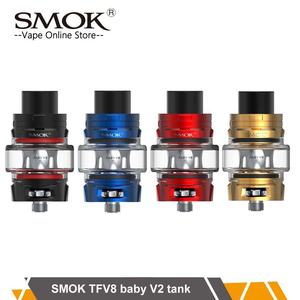 Original SMOK TFV8 Baby V2 Tank 5ml TFV8 baby v2 coil use V2 A1 A2 A3 Max Mesh Coil 510 Thread vaporizer VS TFV12 Prince vocabulario elemental a1 a2 2cd
