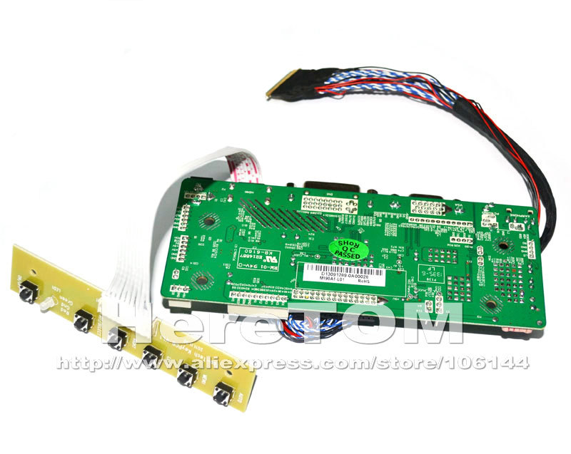 Audio DVI VGA LCD Controller Board lvds Kit For HSD173PUW1-A01 HDMI