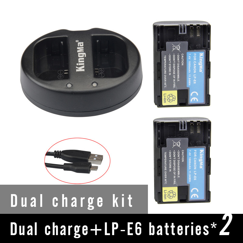 KingMa LP-E6 Li-ion batteries LP E6 LPE6 Camera Rechargeable Battery pack For Canon EOS 5D2 5D3 7D 6D 70D 60D LC-E6E free charger for 24v 15ah li ion rechargeable batteries for e bikes all equipments power source
