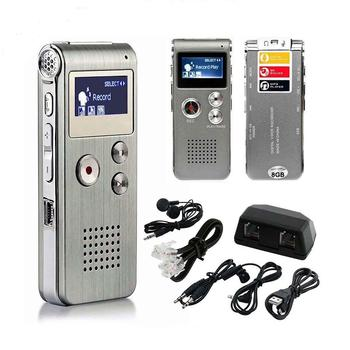 HobbyLane LCD Screen 8GB Digital Sound Audio Recorder Dictaphone MP3 Player Voice Recorder Audio Recorder MP3 Player
