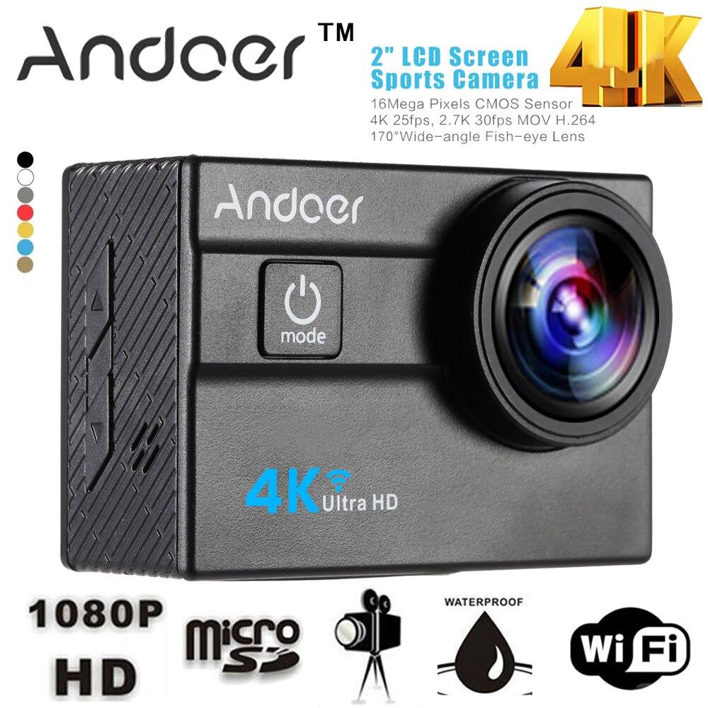 """bilder für Andoer WiFi 4 Karat Kamera Ultra HD 1080 P Sport Action Kamera 2,0 """"LCD 16MP 4X Zoom 173 Grad Objektiv Mni Kamera Auto DVR DV"""
