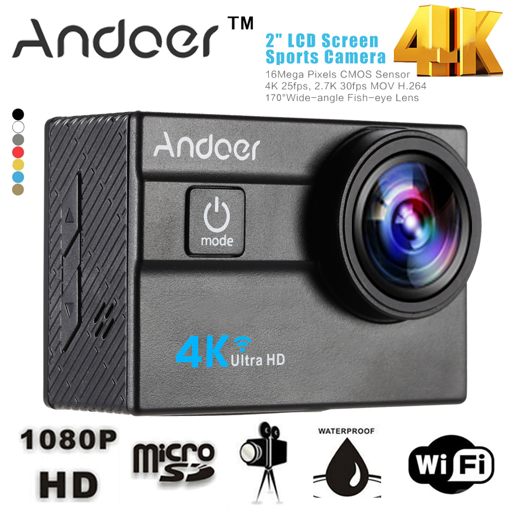 Andoer Wifi 4k Camera Ultra Hd 1080p Action Sports 20 Lcd Cam Sport Mini H264 Full No 16mp 4x Zoom 173 Degree Wide Lens Mni Dv In Video From