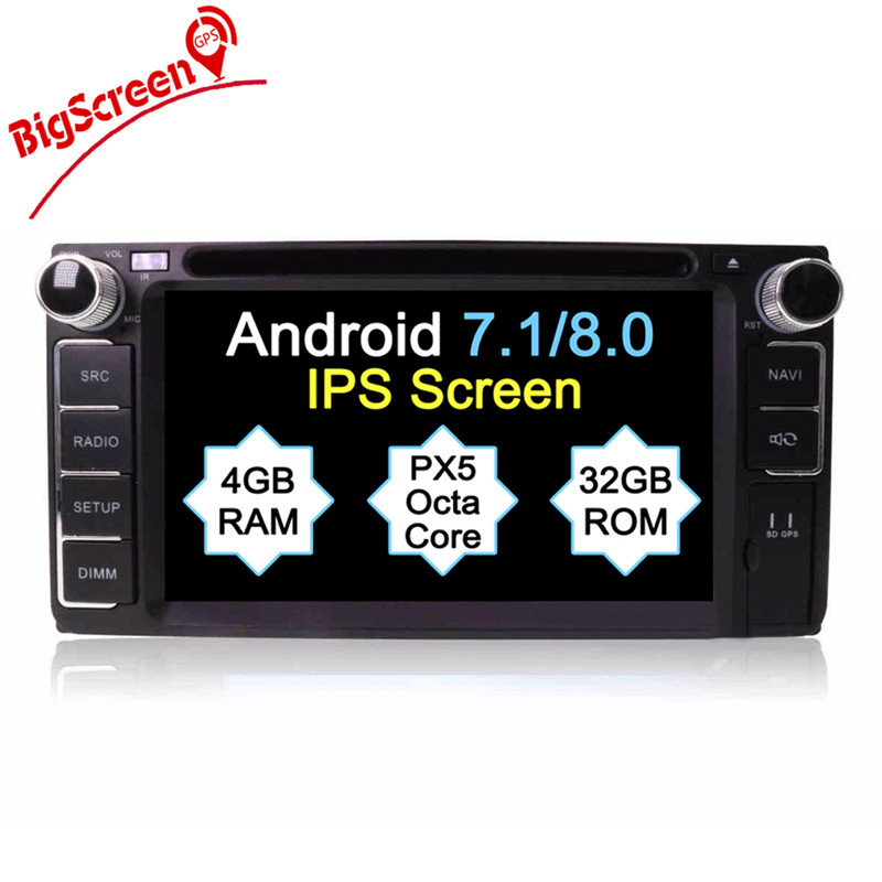 Clearance Android8.0 7.1 System Octa 8 Core Car DVD Player GPS Navigation For Most of Toyota Car Headunit Multimedia Autoradio Monitor 0