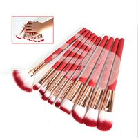 Professional 10pcs Makeup Brushes Set Bulsh Powder Foundation Make Up Brushes Cosmetic Beauty Tools Maquiagem
