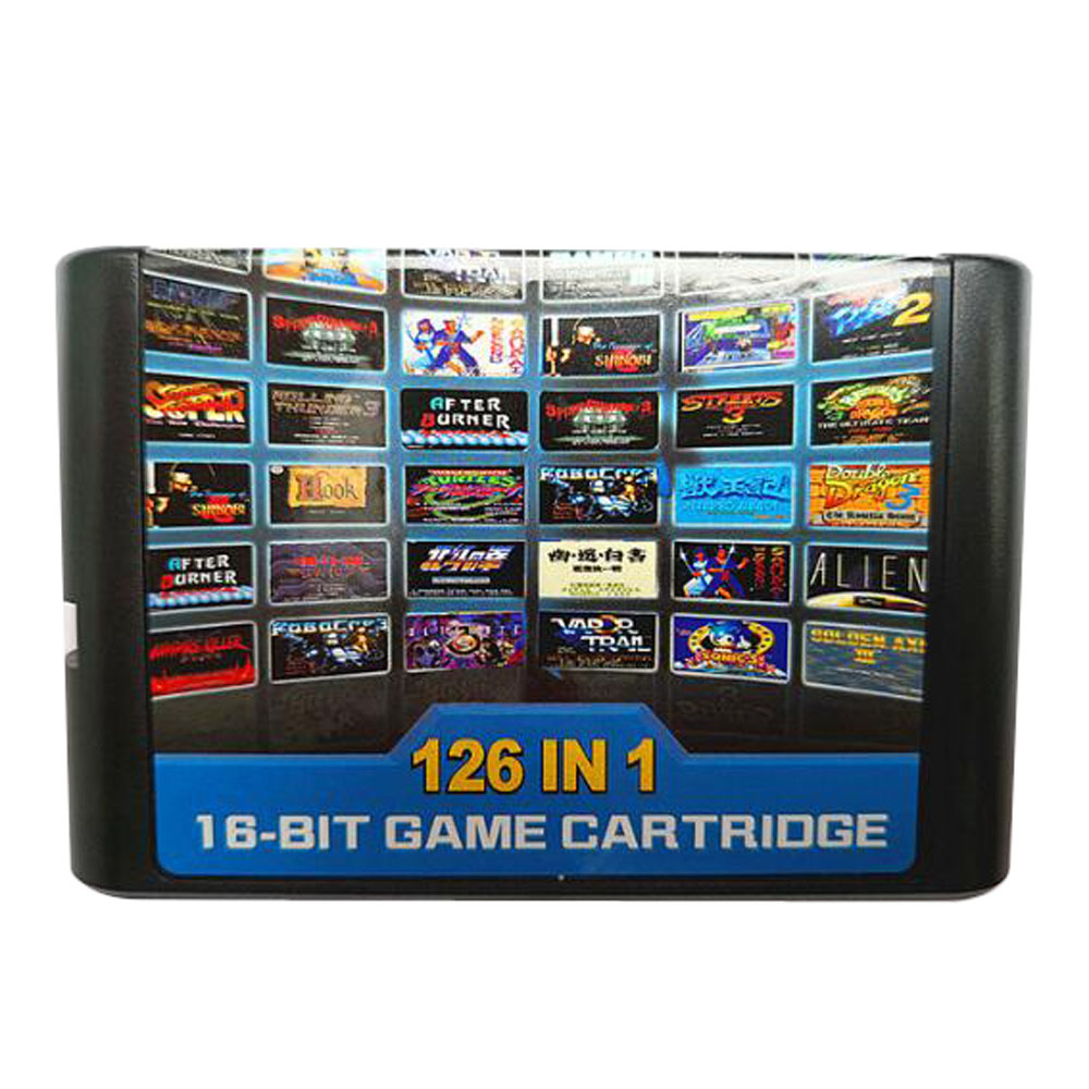 50PCS a lot For Sega Mega Drive 126 in 1 Game card/Cartridge 16 bit MD Game Card For Sega Genesis