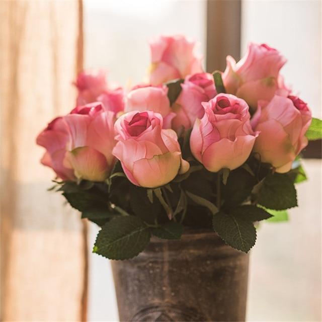 Rosa antico giacinto fiori artificiali home decor vaso for Rose color rosa antico