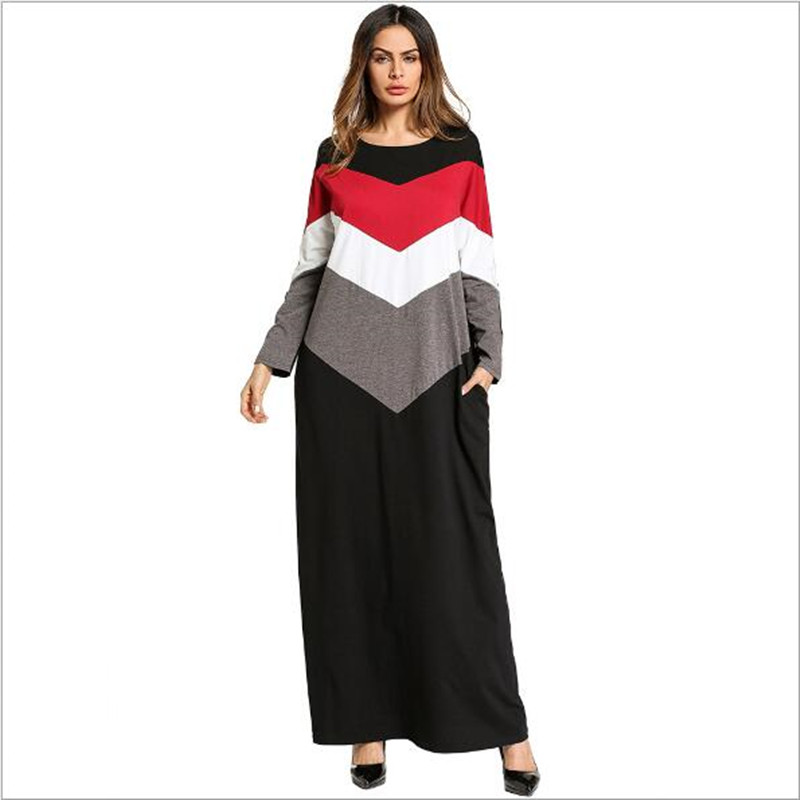 Muslim Women Islamic Pure Color Button Plus Size Middle East Long Dress Robe Party Sexy Dress Women Vestidos Verano 20191208 Fashionable Style; In