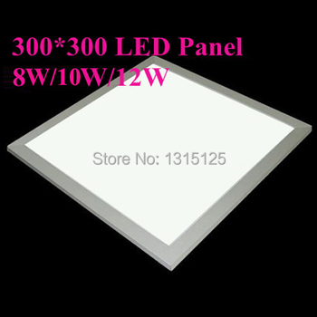 2014 Real Luminarias Sala 300x300 Led Panel Lights 10w Square Bulb for Living Room Kitchen lighting Ac85v-265v free Shipping image