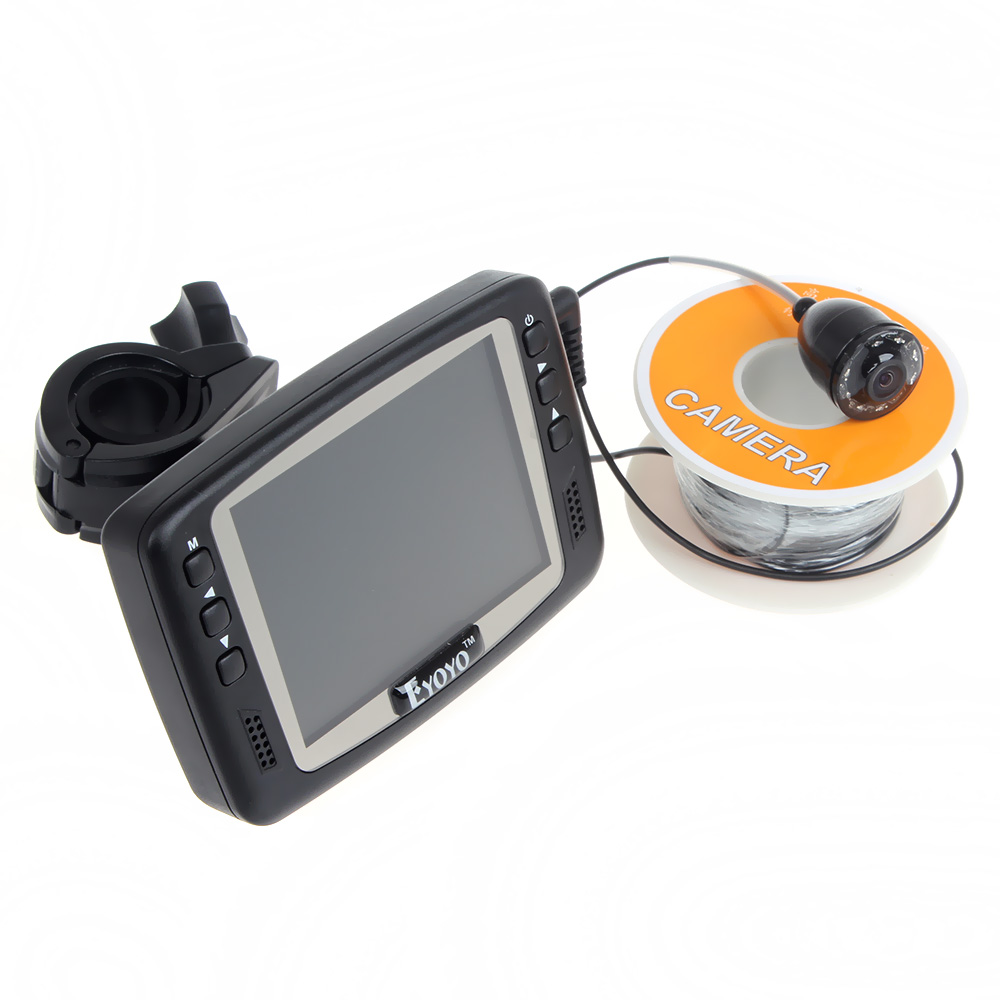 Free Shipping! Eyoyo Original 1000TVL Underwater Ice Video Fishing Camera  Fish Finder 30M Cable  3.5'' Color LCD Monitor 2 4g wireless fish finder underwater fishing camera video free soft app 50m underwater breeding monitoring for fish searching