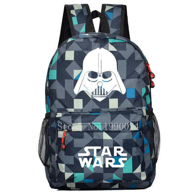 Star Wars Sith Kids School Book Backpacks Movie Bag Ages Fashion Nylon Shoulder Students Travel