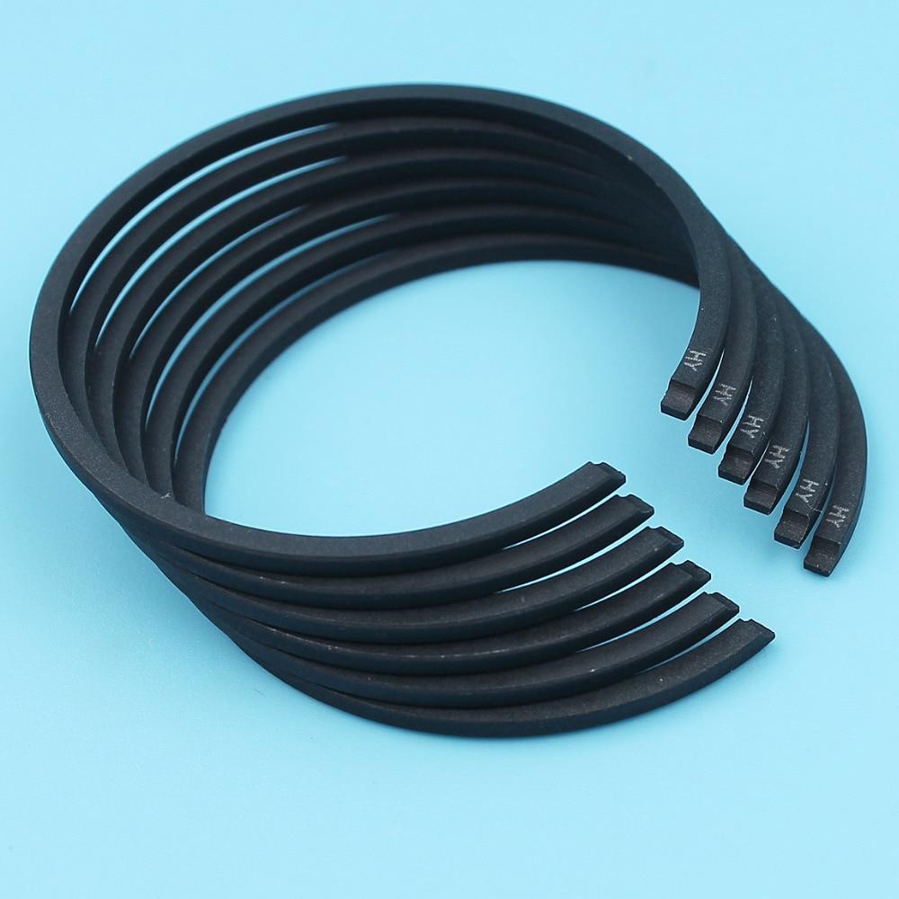 6Pcs/Lot 38mm X 1.5mm Piston Ring Set For Husqvarna 36 136 137 141 142 235P 235R 232L 240RJ 240RBD Chainsaw Brushcutter Trimmer