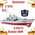 Nuevo regalo destroyer 1/275 rc racing barco nave modelo de barco de radio control del ejército toys simulational historia decoración