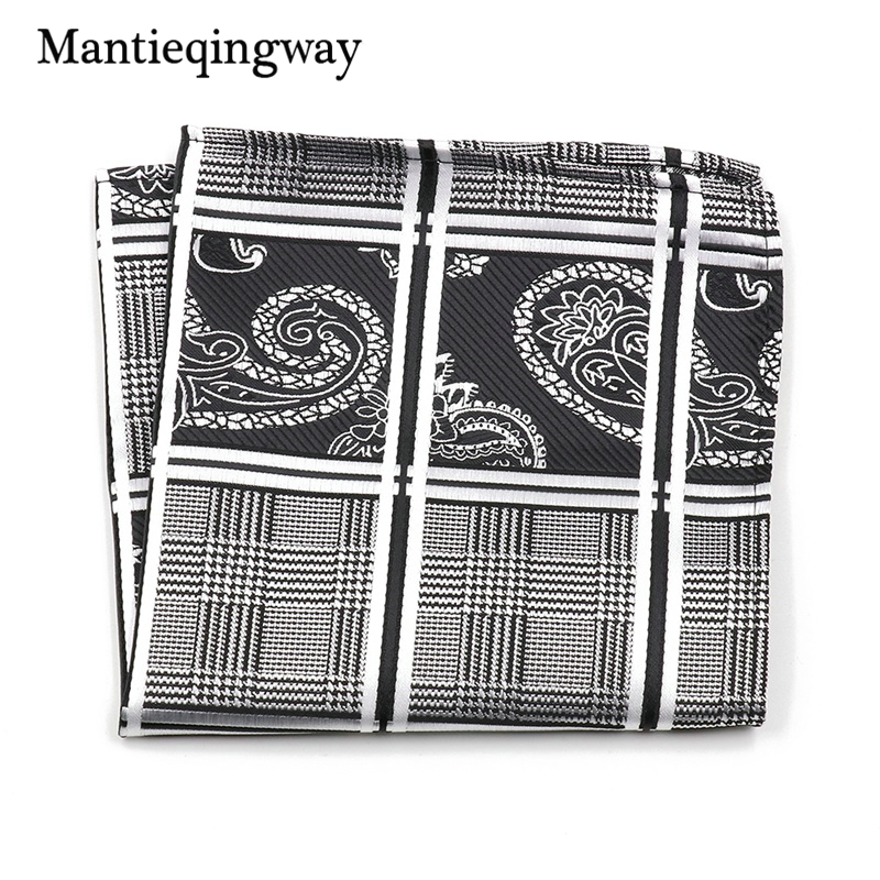 Mantieqingway Vintage Paisley Floral Polyester Yarn Chest Towel Pocket Square Hanky Handkerchiefs For Men Suit Hankies Hanky
