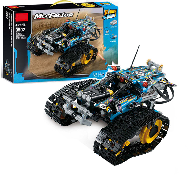 New Fit Legoing Technic MOC RC TRACKED Stunt RACER Car Electric Motor Power Function City Building Block Brick Model Kid Gift