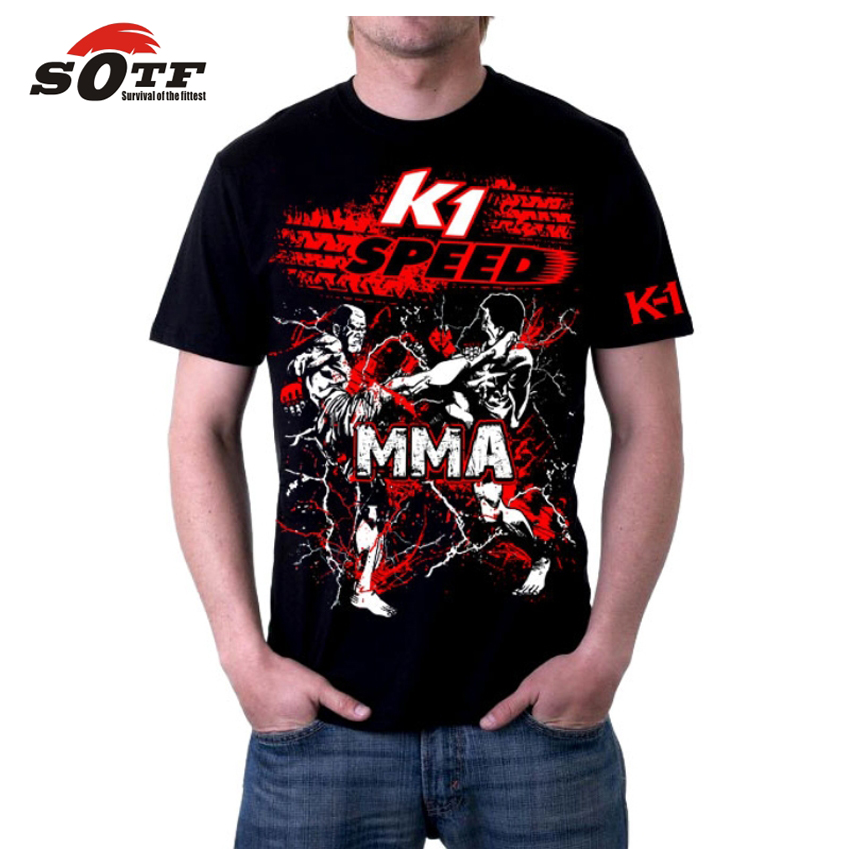SOTF MMA Loose Breathable Cotton Summer Men's Sports Boxing Sweatshirt Mma Shorts Top King Muay Thai Shorts Cheap Pretorian