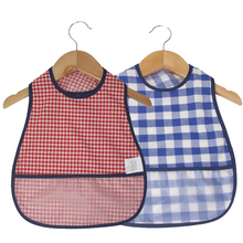 Cute Wear-Resistant Waterproof Cotton Bibs 2 Pcs Set
