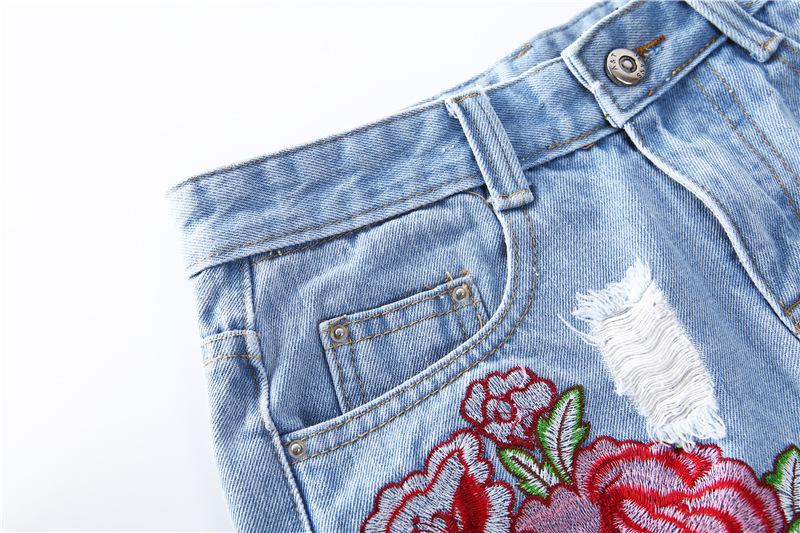 HTB1knreQFXXXXcRXFXXq6xXFXXX5 - Floral embroidery denim shorts Women PTC 165