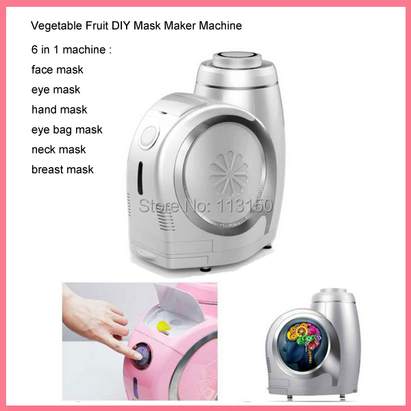DHL free shipping 6 IN 1 Automatic Intelligent Natural Ingrediant Fruit Vegetable Essence Beauty Mask Maker For Face/Eye/Neck dhl free shipping 6 in 1 diy face eye hand breast foot neck natural fruit